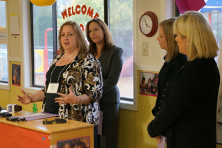 Tricia Sheldon, representative of La Petite Academy, brings a child care facility perspective to the announcement of the new ABC Grow Healthy program.