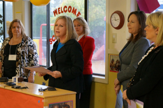 Leigh Bolick, director of Child Care Services for the S.C. Department of Social Services, expresses her support of the new ABC Grow Healthy program.