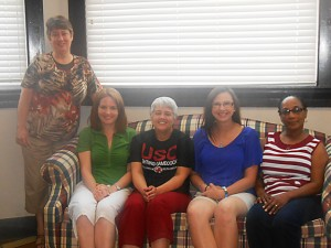 From left, are Director Debbie Strickland, Monica Rogers, Gretchen Bishop, Lindsay Peeler and Dorothy Crosby. Not pictured is Kim Ridgeway.