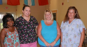 From left, are Carolyn Green, Brittany Kelly, Nancy Taylor and Director Brandi Fleisher. Not pictured are Assistant Director April Davis and Shannon Bryson.