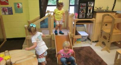 Providing age-appropriate play materials and furnishings