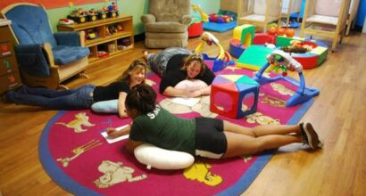 Looking at a play area from an infant's perspective