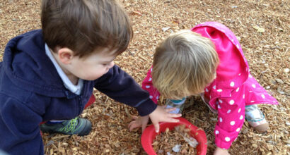 It's a beautiful fall day for outdoor play