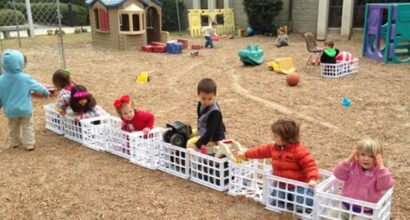 A great idea for outdoor play
